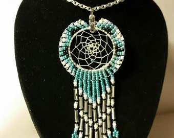 Aqua Dream Catcher Necklace