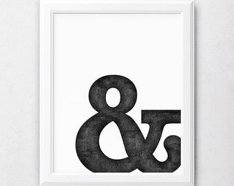 Ampersand Print, Ampersand Poster, Graphic Design Art, Typography Poster, Typography Print, Ampersand Art, Typography Printable, Design Art