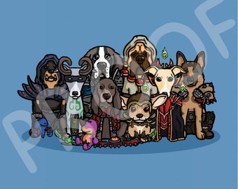 Novelty Animal World of Warcraft Horde Digital Art - Gift for Animal / WoW Lovers (Download)
