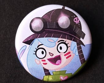 Clover - Apocalyptic Llama Girl Badge Button