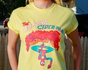 Cider Man Shirt - PUN PANTRY food, funny, pun, music, cider, instagram, spider, tee, hipster, tee, shirt, tshirt, marvel, graphic, comic