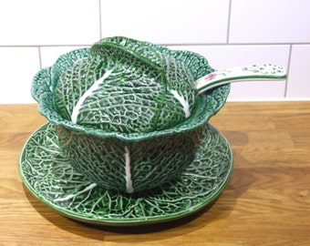 French Vintage Soupiere // Cabbage soup serving bowl // soup tureen