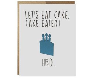 Cake Eater Birthday Card
