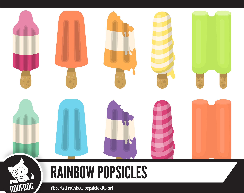 Popsicle clipart Summer clip art rainbow popsicle clip art
