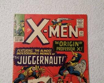 1st Juggernaut! #12 X-Men (1965) - Qualified VG+ (see description)