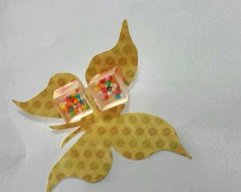 100's and 1000's of reasons to smile. Sweet, candy, cube earings