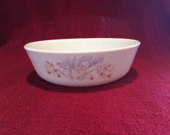 "Pyrex Iris Blue Iris Cereal Bowl 6"" diameter"