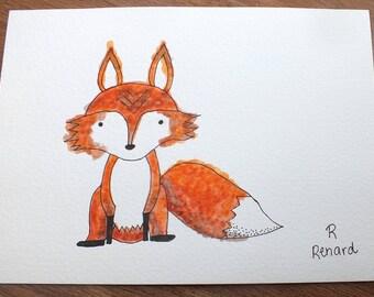 Illustration watercolor 5x7po primer