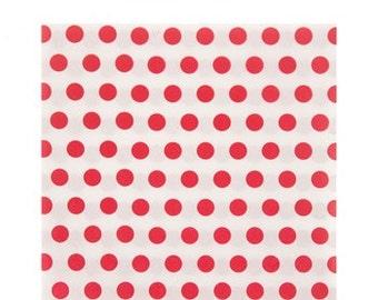 Large White & Red Polka Dot Napkins