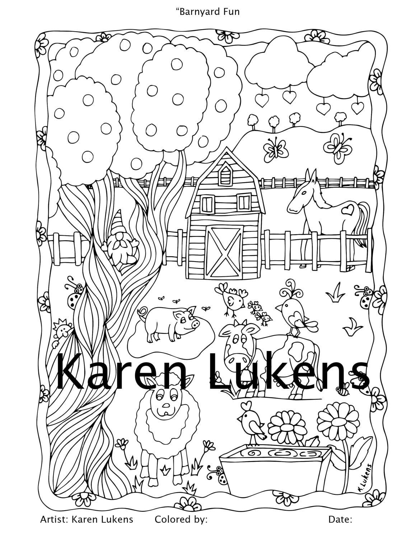Coloring page of a barnyard - Coloring Page Of A Barnyard 59