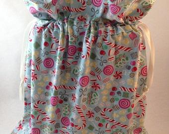 Christmas Candy Fabric Gift Bag - Medium