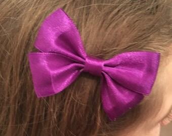 Purple Hair bow, crocodile clip. children's hair bow, hair bows, hair bow, hair bow clip, hair accessories barrettes and clips, wedding