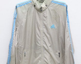 Vintage Adidas Training Gray Windbreaker Jacket Size M-L
