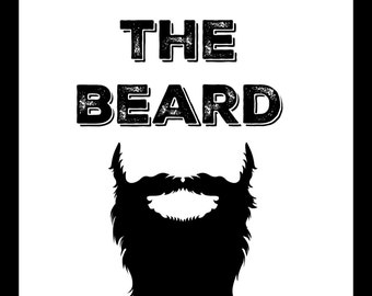 Fear the Beard - 8x10 instant art - digital download