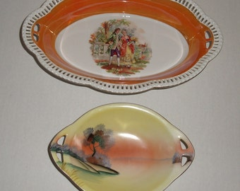 Bavaria Schumann Oval Vegetable Bowl.  Meito China Relish Dish.