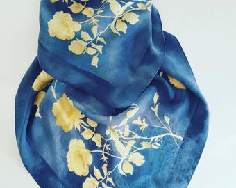 vintage pure silk scarf