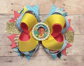 Baby Moana Boutique Hair Bow, Moana Hair Bow , Moana Princess Hair Bow, Moana Birthday Party , ...