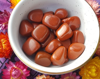 Red Jasper - Grounding, Stabilizing, Comforting; Highly-Charged Tumbled Stone