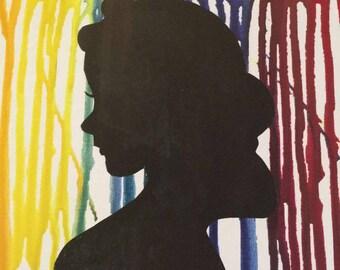 Snow White crayon canvas