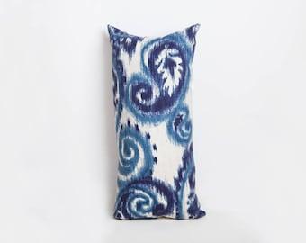 Outdoor Bolster Pillow, Blue, Outdoor Pillow, Bolster Pillow, Paisley Decor, Paisley Pillow, Blue Pillow, Blue Outdoor Pillow, Blue Paisley