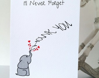 Thank You card, thanks, baby gift, wedding gift, friend, mother, father, thank, special, gift, cheers