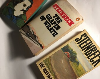 3 vintage paperback classics  : Steinbeck and Balzac....free shipping