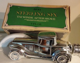 Vintage Avon Sterling Six Tai Winds After Shave with Box