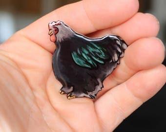 Cochin chicken Magnet : great gift for chicken lover for locker fridge or car Chicken loss gift