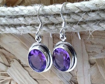 Amethyst Earrings, Purple earrings, Amethyst Jewelry, February Birthstone, Gemstone earrings, Gift idea, Gifts for Her