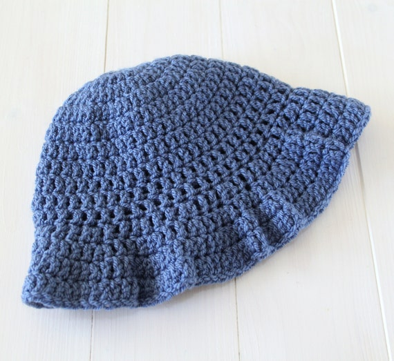 Child's hat, Hats, Crochet hats, Girls hats, Child's sunhat, Girls sunhat, Blue crochet hat, Knitted hat, Hat with brim, Ready to ship.