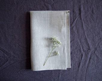 SALE! Gray linen towel / 46 x 100 cm / natural linen / eco linen / linen bath towel / linen kichen towel