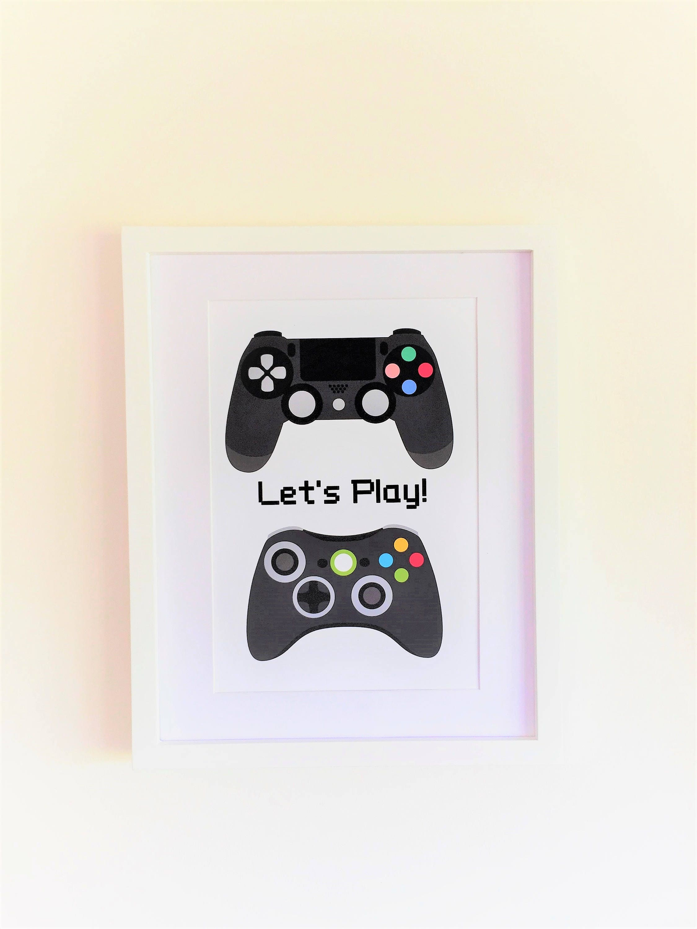 Gamer Man Cave Gifts : Man cave poster playstation playroom decor games room