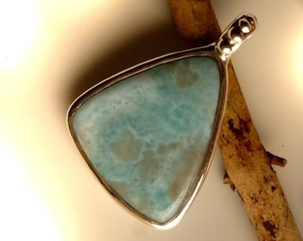 Pendant with Larimar, 35 mm, unique, Atlantis, Atlantis, pendant