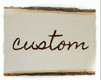 Custom Wood Sign, Rustic Home Decor, Handlettered Wood plank wall decor