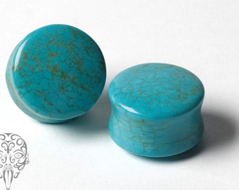 Chinese Turquoise Stone double flared plugs.
