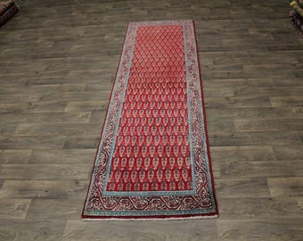 Allover Hallway Semi Antique Tabriz Runner Persian Oriental Area Rug Carpet 3X11