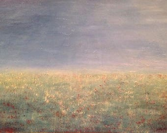 "Acrylic painting ""Dewy morning"""