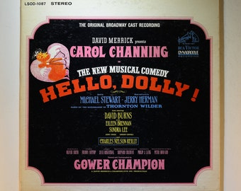 "1964 The Original Broadway Cast Recording ""Hello, Dolly!"" Carol Channing, Musical Record, Musical Hello Dolly, Vintage Vinyl, Vinyl Record"