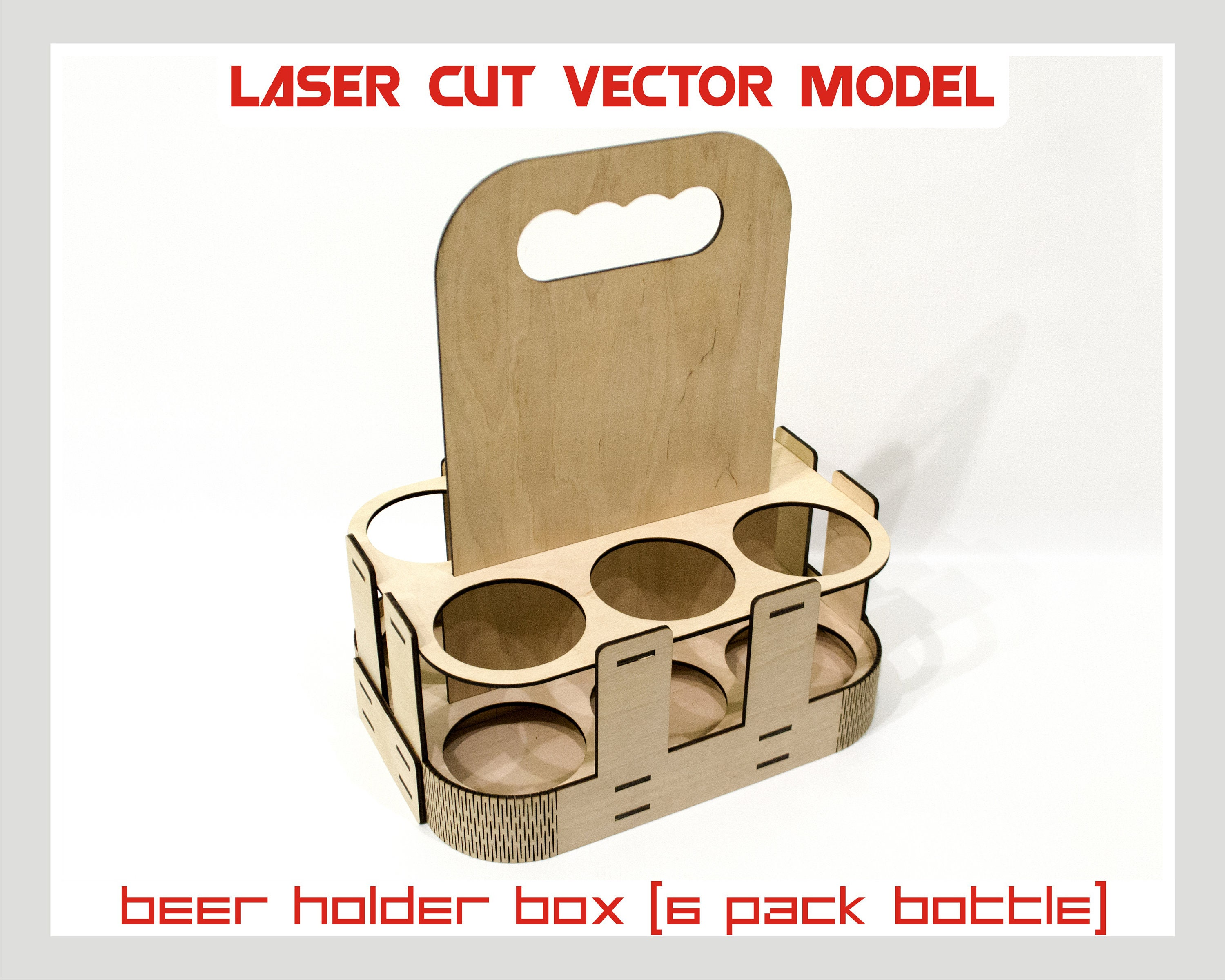 Beer Holder Box Laser Cut Vector Instant Download Laser