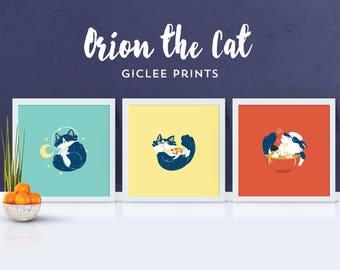 Orion the Cat Giclée Prints
