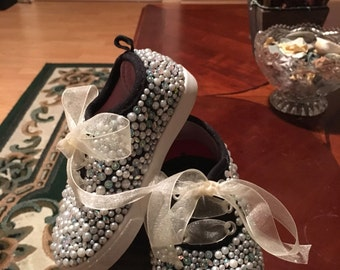Bedazzled girl toddler shoes