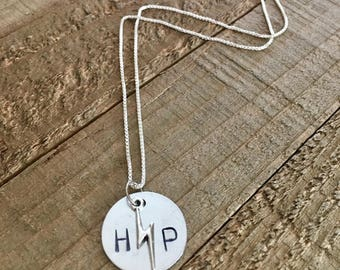 Harry Potter necklace-Harry Potter gift-hand stamped necklace