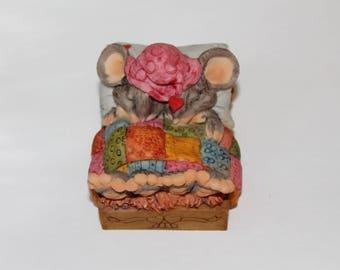 Vintage Artefice Mice Sleeping Figurine Ottanta D. Esposito Italy
