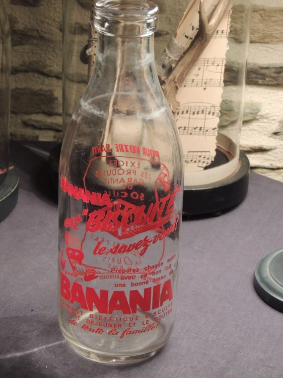 Advertising French bottle bottle Banania milk milk berrylait Châteauroux collection tableware collection House french