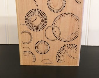 Stampin Up! large stamp - On The Spot - 2005 and now retired - Circles and Dots - proceeds from this sale for adoption fundraising