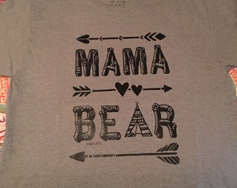 Mama Bear Shirt, Mama, Mom, Gifts for her, S-3x