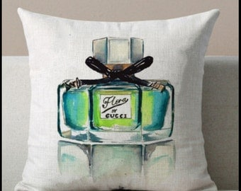 Watercolor pillow case design