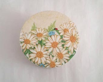 Jewelry box daisies, Wooden Jewelry box,Decoupage box, Flower decoration,Jewelry box daisies, Art box, Floral box, Flower box,  Jewelry box