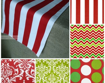 Red and Green Christmas Table Decor Holiday Table Runner Stripe Chevron Christmas Decor Table Centerpiece Dining Room Decor Gift