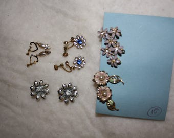 Collection of clip on/screw earrings